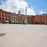 площади Маццини - мощение обожжённой плиткой