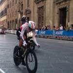 Mondiali di Ciclismo 2013: La corsa sul lastrico di Via Tornabuoni - Si ringrazia il Sig. Francesco Simonetti per averci concesso l'immagine