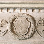 particolare bassorilievo di stemma nobiliare