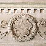 贵族徽章的浮雕的细节。
