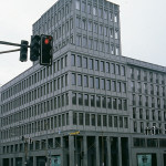 "Friedrichstrasse 118 - supply of raw slabs for honed facade cladding with ""Pietra Serena Extra Dura del Bucine®"" (extra-hard Pietra Serena)"