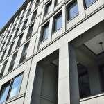 Friedrichstrasse 118 - rivestimento levigato - lavoro anno 2000 - immagine della facciata agosto 2013