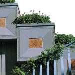 """stone veneer planters with """"Pietra Serena Extra Dura del Bucine®"""" (extra-hard Pietra Serena)"""