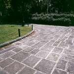 Plaza Donatello – suministro pavimento y bordillos rayados con chaflán redondeado