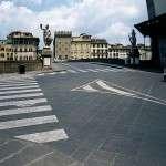 Ponte Santa Trinità - fornitura lastricato piano fiammato e spuntato