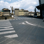 Ponte Santa Trinità – supply of flamed and picked pavement